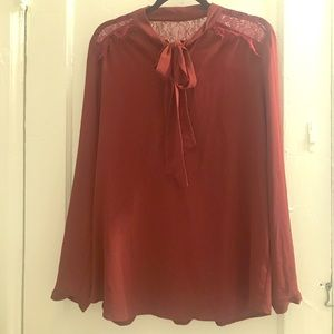 Mossimo size xxl burgundy wine color blouse